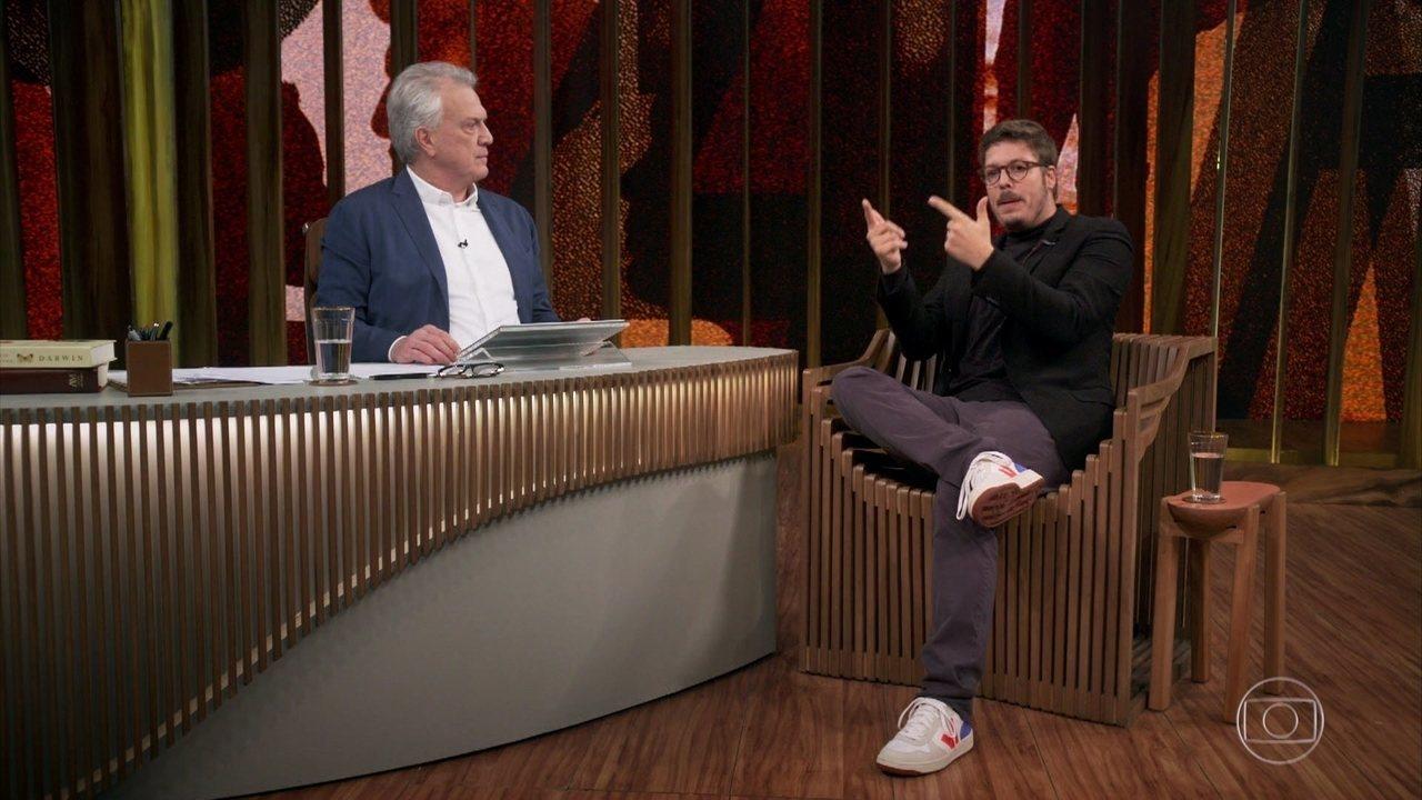 Fabio Porchat fala sobre o politicamente correto em Conversa com Bial (Imagem: Reprodução/ Globo)