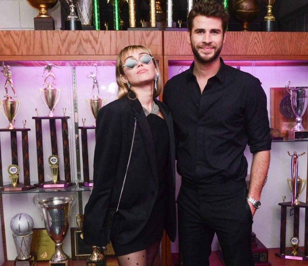 Miley Cyrus e seu esposo Liam Hemsworth (Foto: Reprodução)