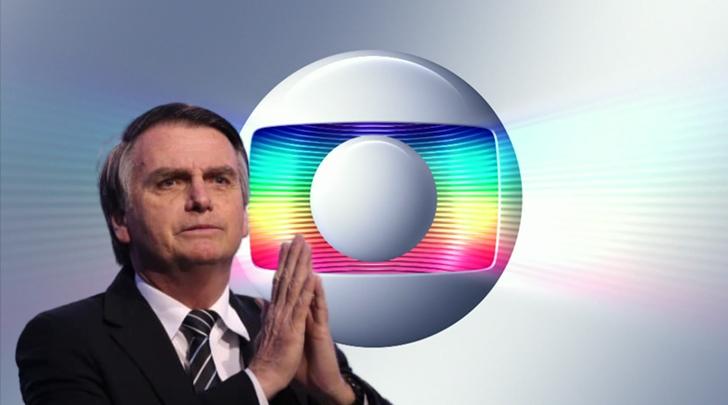 Globo está em pé de guerra com Bolsonaro. (Foto: Reprodução)