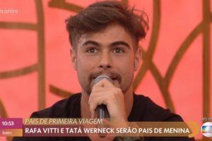 Rafael Vitti fala sobre gravidez de Tata Werneck no Encontro com Fátima Bernardes da Globo (Foto: Reprodução)