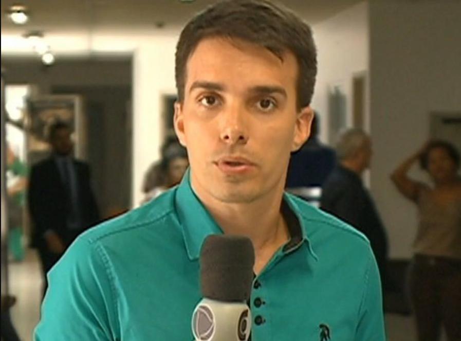 Jorge Talmon, repórter de afiliada da Record, viralizou nas redes (Foto: Reprodução)