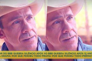 Rodrigo Cowboy, ex-BBB que venceu o programa, contou para Geraldo Luís o porquê perdeu todo o dinheiro (Foto reprodução)