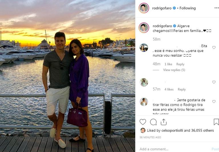 Rodrigo Faro e Vera Viel em Portugal (Foto: Reprodução / Instagram)