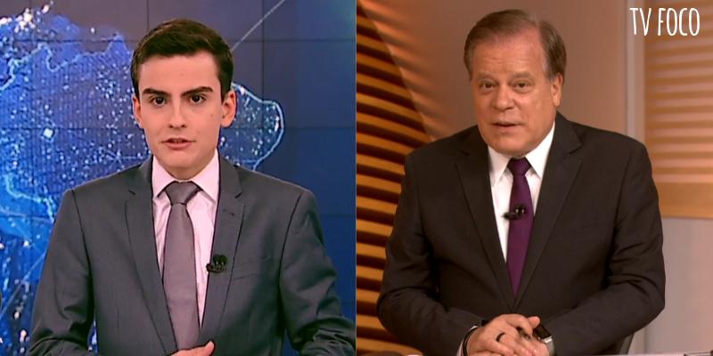 Dudu Camargo do SBT e Chico Pinheiro da Globo disputam com a Record (Foto: Montagem/TV Foco)