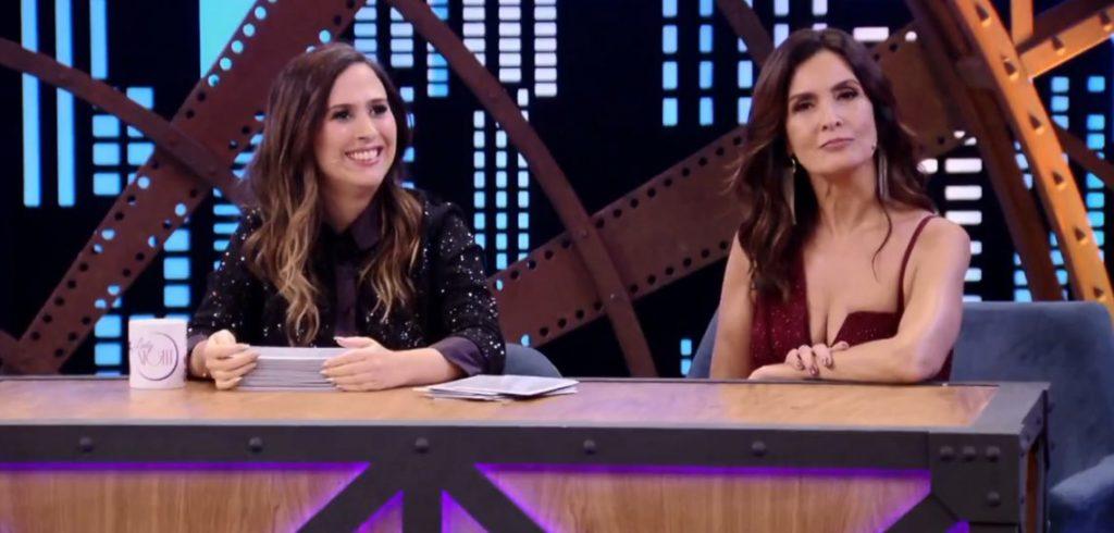 Tatá Werneck recebeu Fátima Bernardes no primeiro episódio do Lady Night que estreou sua quarta temporada no MultiShow (Foto: Reprodução)