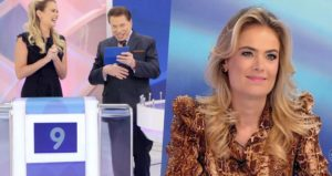 Silvio Santos demonstrou mais uma vez seu carinho pela atriz Thaís Pacholek (Foto: Divulgação)