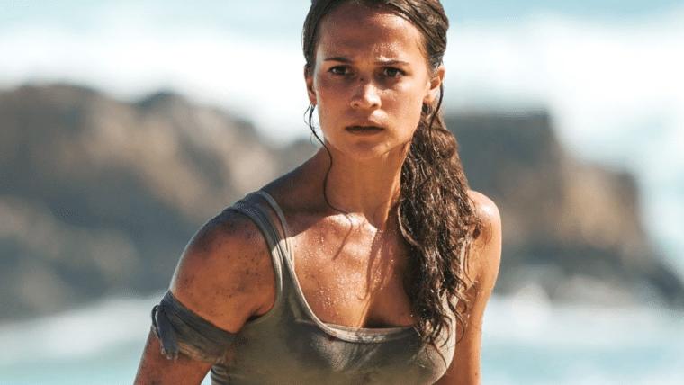 Filme Tomb Raider: A Origem Da Vida na Sessão Da Tarde (Foto: Reprodução)