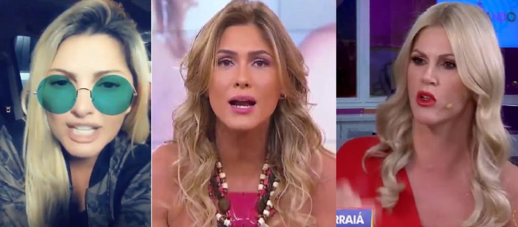 Antonia Fontenelle, Lívia Andrade e Val Marchiori estão em pé de guerra (Foto: Montagem/TV Foco)