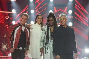 Técnicos Michel Teló, Ivete Sangalo, IZA e Lulu Santos durante evento de The Voice Brasil — (Foto: Analice Paron/Gshow)
