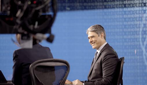 O apresentador William Bonner do Jornal Nacional da TV Globo (Foto reprodução)
