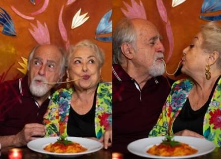 Ary Fontoura e Suely Franco formam um casal sensação de A Dona do Pedaço, rede Globo (Foto: Reprodução/ Roberto Moreyra)