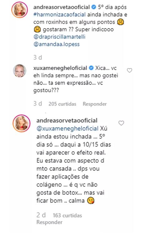 Comentário de Xuxa (Foto: Reprodução)