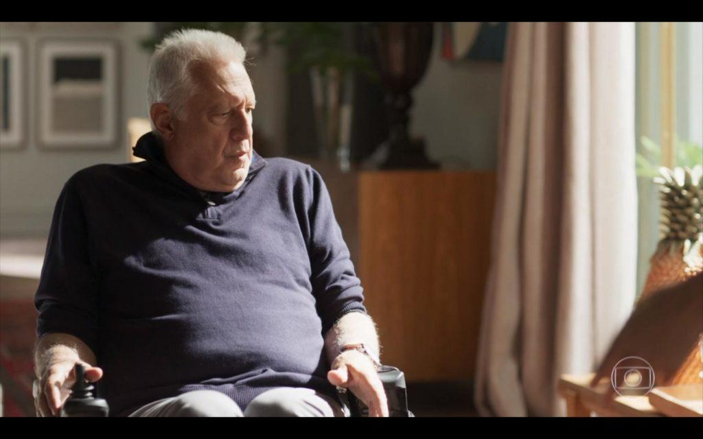 O ator Antonio Fagundes em cena na novela Bom Sucesso, trama das sete da Globo. (Foto: Reprodução)