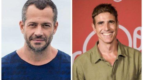 Reynaldo Gianecchini e Malvino Salvador, atores de A Dona do Pedaço, foram desmascarados (Foto: Reprodução/ Montagem TV Foco)
