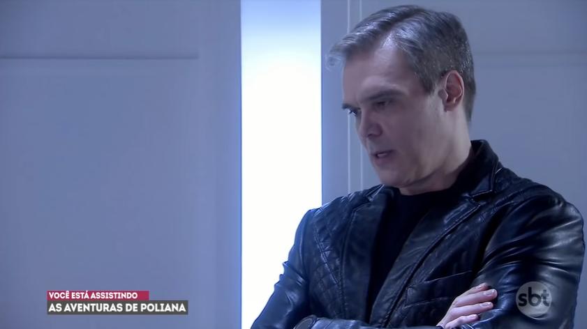 Pendleton em cena na novela As Aventuras de Poliana, trama infantil do SBT. (Foto: Reprodução)