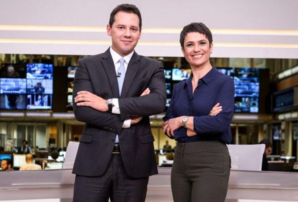 Dony de Nuccio e Sandra Annemberg no Jornal Hoje (Foto: Reprodução)