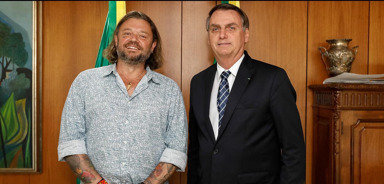Bolsonaro e Richard Rasmussein (Foto: Divulgação/ Carolina Antunes)