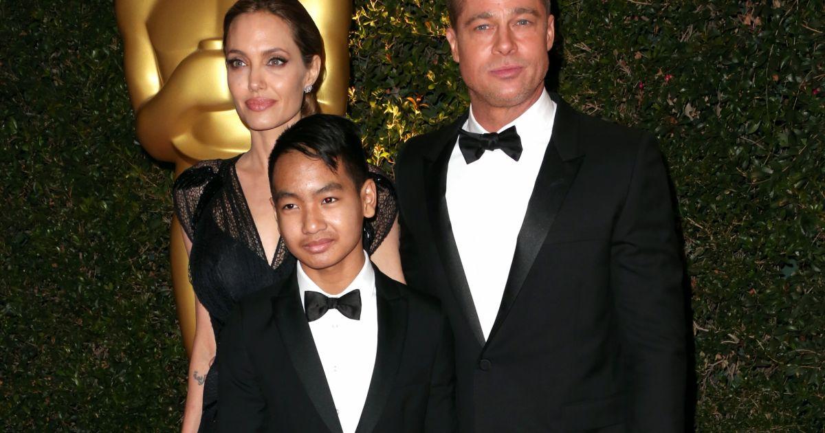 Angelina Jolie, Brad Pitt e Maddox (Foto: Reprodução)