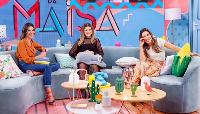 Maisa Silva entrevistou Rebeca Abravanel e Patricia Abravanel em seu programa no SBT (Foto: Gabriel Cardoso/SBT)