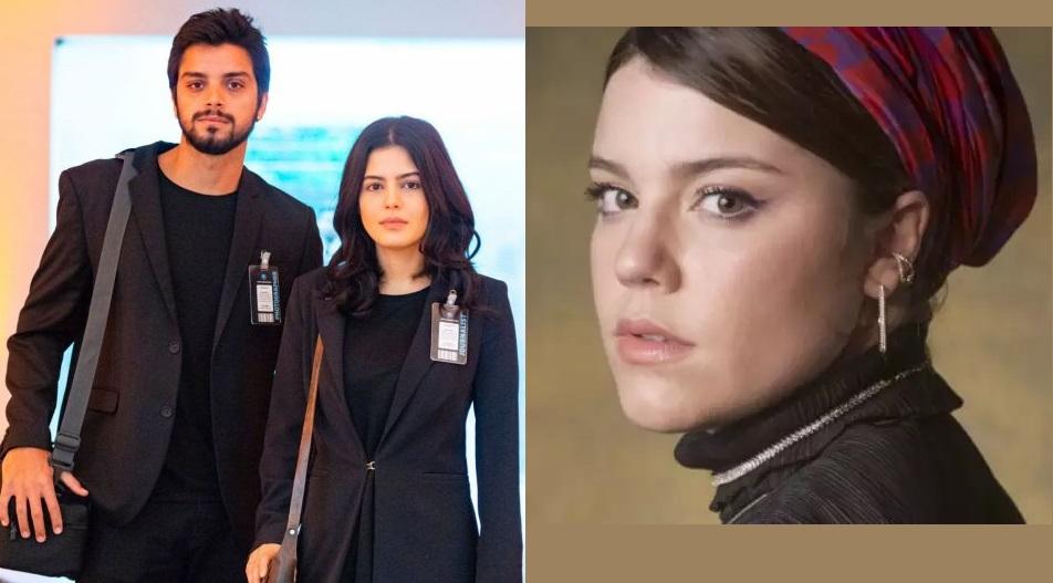 Laila (Julia Dalavia) e Bruno (Rodrigo Simas) armam plano para acabar com Dalila (Alice Wegmann) em Órfãos da Terra