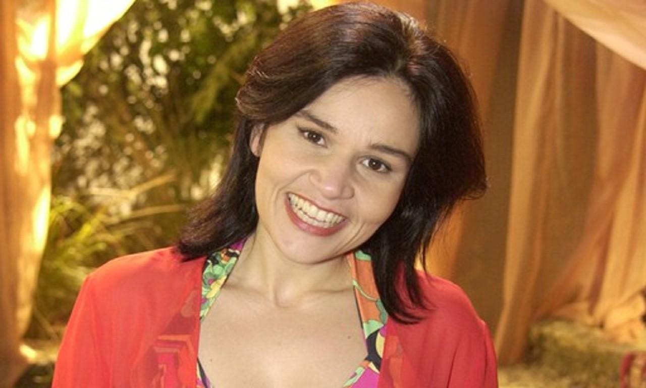 Cláudia Rodrigues na coletiva de imprensa. Foto: Reprodução
