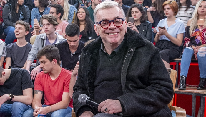 Walcyr Carrasco durante participação no Altas Horas (Foto: Globo/Fábio Rocha)