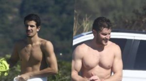 Klebbler Toledo e Enzo Celulari vão a praia e rasgam elogios por surpreenderem com volume (Foto: Reprodução)