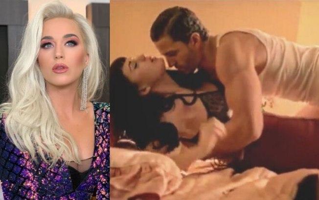 Katy Perry e Anderson Davis em cena quente de Thiking Of You (Foto: Reprodução)