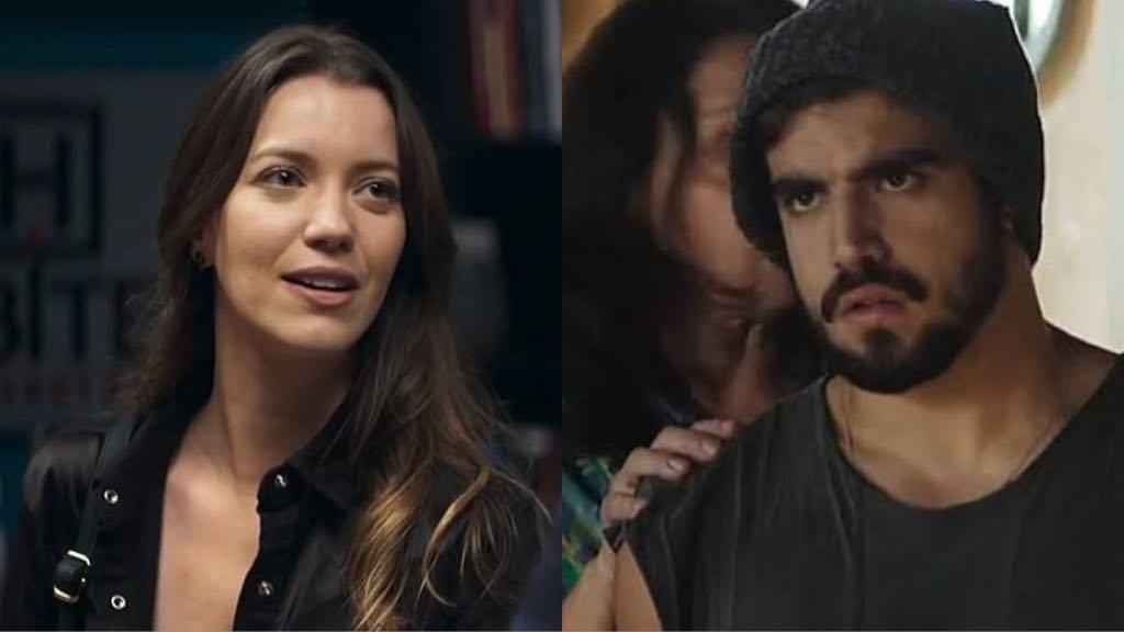 Fabiana (Nathalia Dill) terá traição descoberta por Rock (Caio Castro) em A Dona do Pedaço (Foto: Reprodução/Globo/Montagem TV Foco)