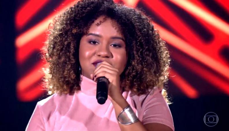 Ana Ruth deu alfinetada em Ivete Sangalo no The Voice Brasil (Foto: Reprodução/Globo)