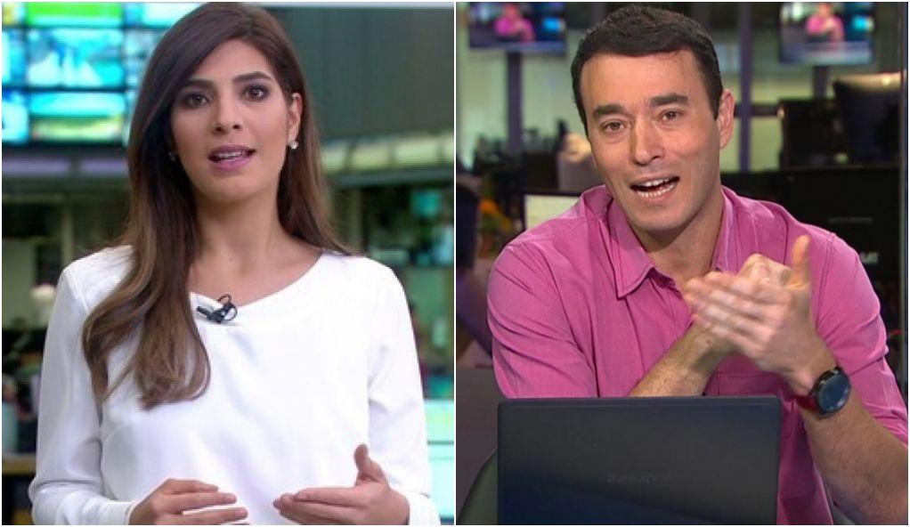 Andréia Sadi e André Rizek, jornalistas da Globo estão namorando segundo Leo Dias (Imagem: Reprodução)