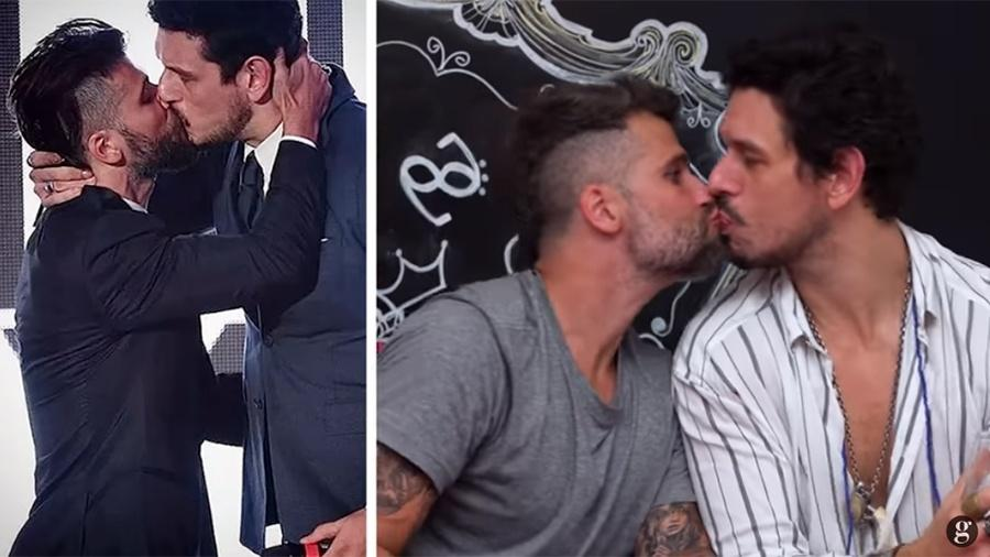 Bruno Gagliasso e João Vicente de Castro repetem o beijo polêmico de 2015 (Imagem: Reprodução)