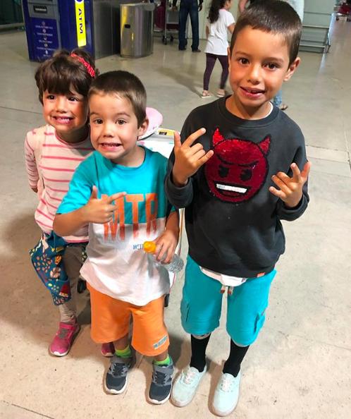 Os filhos de Luana Piovani e Pedro Scooby[Liz, Ben e Dom] Foto: Reprodução