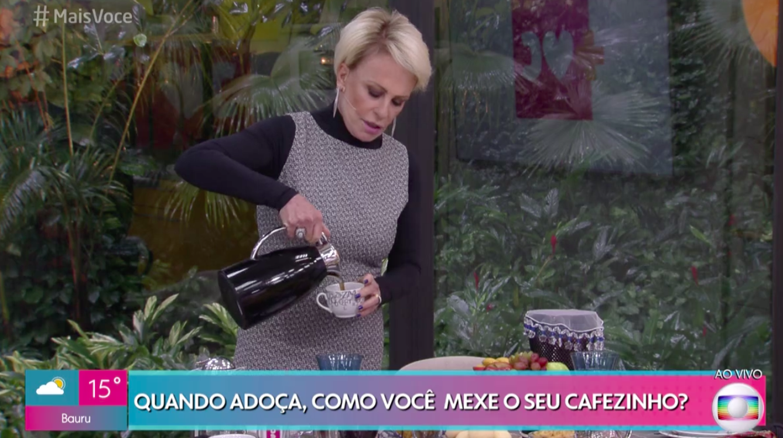 Ana Maria Braga no Mais Você  Foto: Reprodução/Globo