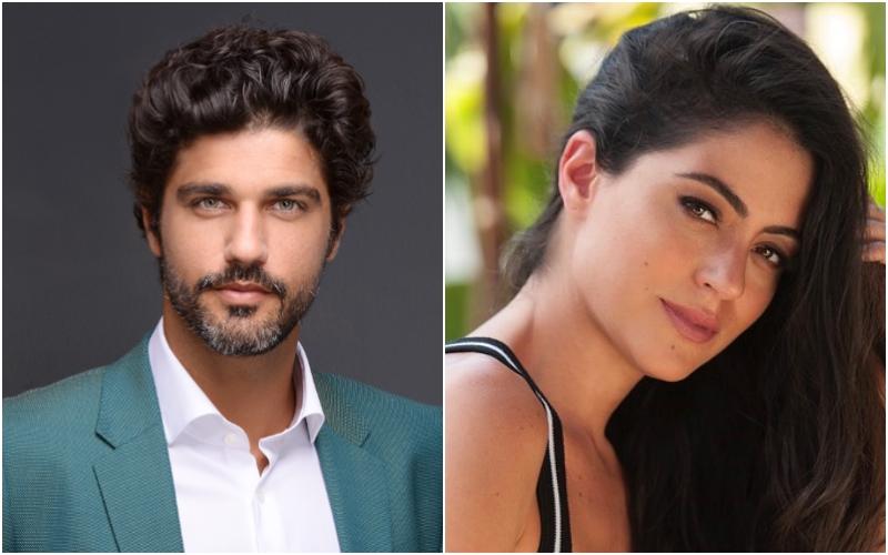 Os atores da novela da Globo, Órfãos da Terra, Carol Castro e Bruno Cabrerizo estariam namorando (Foto: Montagem TV Foco)