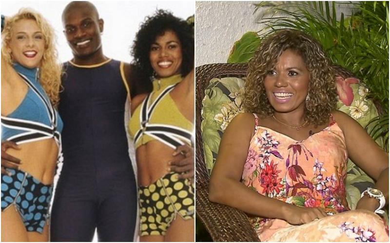 A ex-dançarina do É o Tchan, Débora Brasil amiga de Carla Perez, surpreende o público ai anunciar que se tornou evangélica (Foto: Montagem TV Foco)