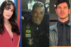 Débora Nascimento, Cabrabom e José Loreto (Montagem: TV Foco)