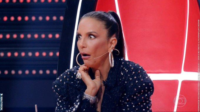 Ivete Sangalo espantada no The Voice Brasil da TV Globo (Foto: Reprodução/ TV Globo)