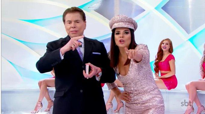 Mara Maravilha e Silvio Santos (Reprodução)