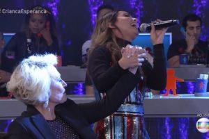 A cantora Aline Barros e Ana Maria Braga no Criança Esperança (Foto: Divulgação)