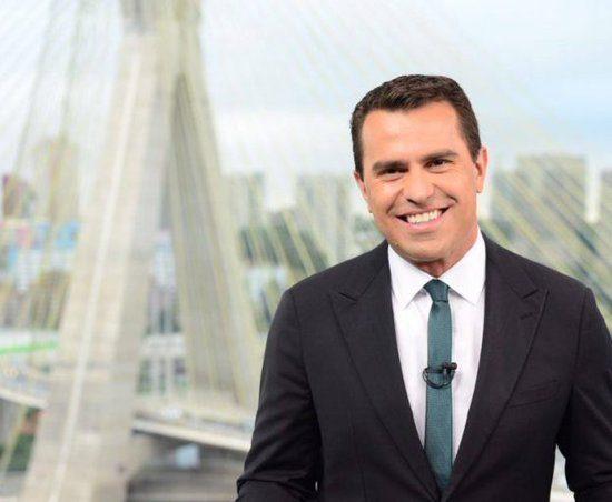 Rodrigo Bocardi ficou encantado com simpatia de entrevistada no Bom Dia SP (Foto: Reprodução)