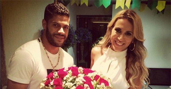 O jogador Hulk Paraíba e a ex-mulher, Iran Souza (Reprodução)