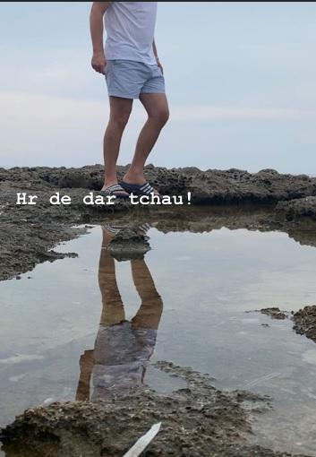Evaristo Costa se despediu da praia após sair da TV Globo (Foto: Reprodução/Instagram)