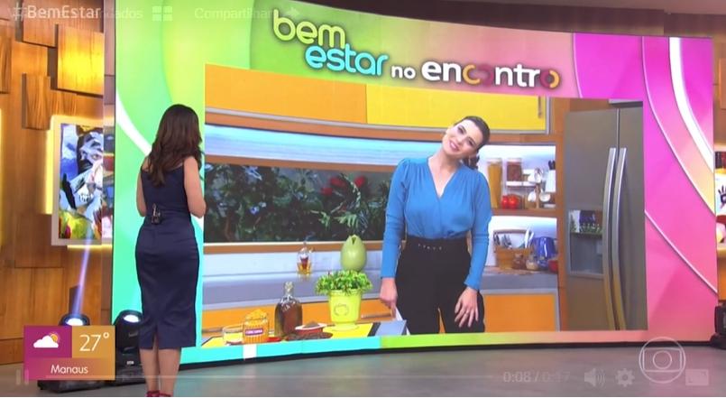 A apresentadora do Encontro com Fátima Bernardes deixou a repórter do Bem Estar, Michelle Loreto constrangida