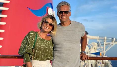 Os atores da Globo, Flávia Alessandra e Otaviano Costa (Foto: Reprodução)