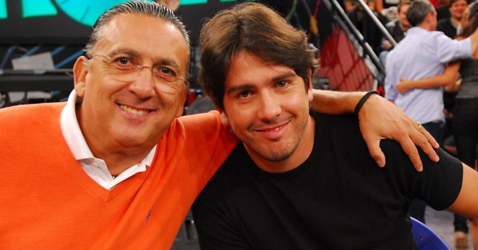Galvão Bueno e Cacá Bueno durante participação no Altas Horas (Foto: Divulgação/Globo)