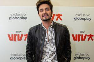 Luan Santana durante apresentação do show Viva à imprensa; musical será exclusivo do streaming da Globo (Foto: Divulgação/Globoplay)