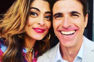 Juliana Paes e Reynaldo Gianecchini nos bastidores da novela A Dona do Pedaço (Foto: Reprodução/Instagram)