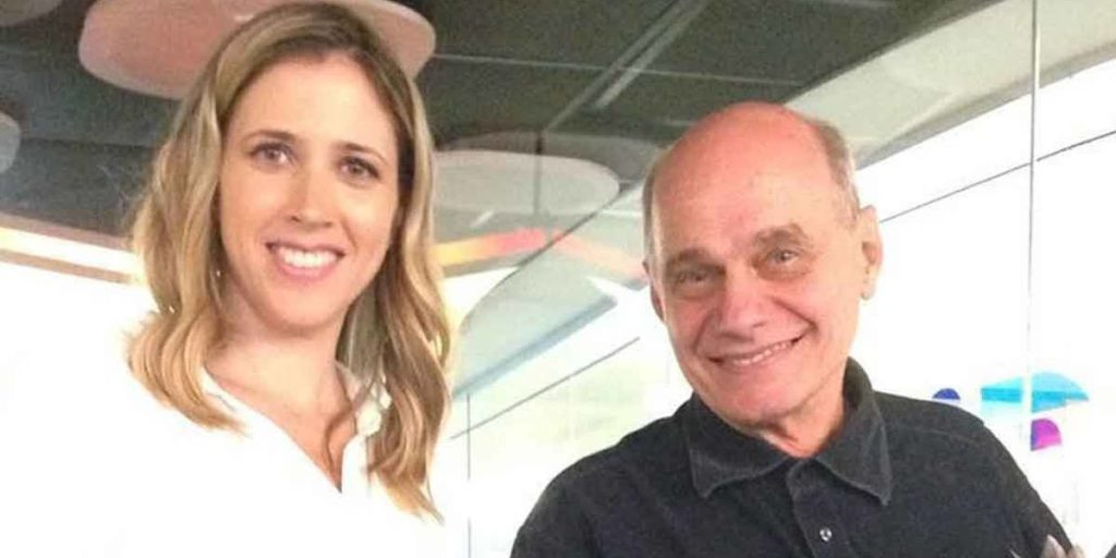 Laura Ferreira e Ricardo Boechat na Band (Foto: Reprodução)