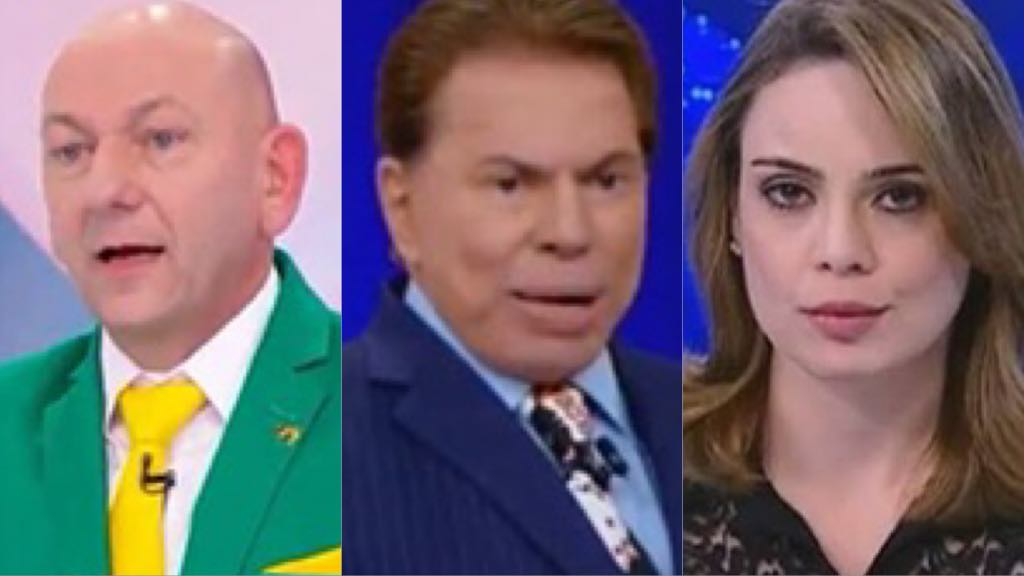 Luciano Hang , Silvio Santos e Raquel Sherazade (Montagem TV Foco)